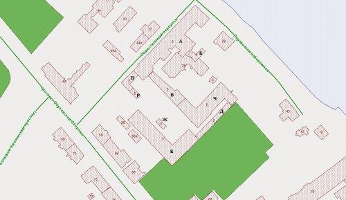 Общественный переулок, дом 5. Расположение зданий и сооружений на участке до сноса построек Невского метизного завода.