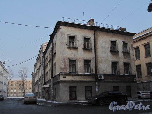 Матисов пер., дом 1-3 / улица Александра Блока, дом 6. Вид на здание со стороны Матисова переулка. Фото 12 февраля 2012 года.