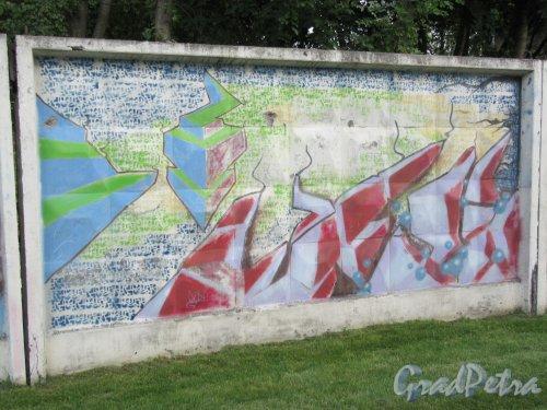 Таврический пер., д. 2-10. Граффити на тему «Вода- источник жизни». Панно 23. фото сентябрь 2017 г.