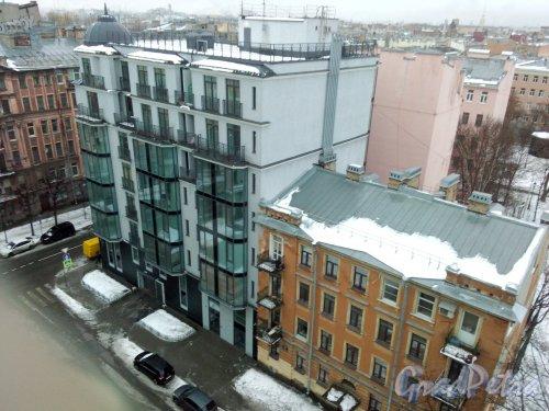 Офицерский переулок, дом 13. 8-этажный жилой дом. Фото  2 января 2019  года.