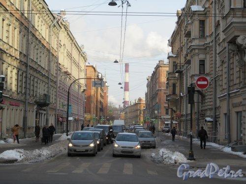 Перекупной пер. Вид улицы с Невского пр. фото февраль 2018 г.