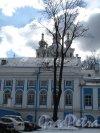 пл. Растрелли, д. 1. Смольный монастырь. Вид на комплекс построек со стороны ул. Смольного. Фото март 2014 г.