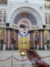 Якорная пл. (Кронштадт), д. 5. Морской собор Святого Николая Чудотворца. Царские врата. Фото август 2015 г.