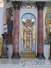 Якорная пл. (Кронштадт), д. 5. Морской собор Святого Николая Чудотворца. Мозаика в простенке между колоннами. Фото июнь 2015 г.