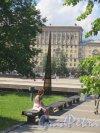 Московская площадь. Вид плошади от Демонстрационного проезда. фото июнь 2015 г.