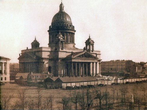 Исаакиевский собор. Фотография Ивана Бианки 1853-1854 годы.