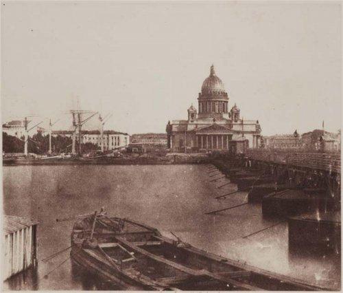 Исаакиевский собор. Калотип Роджера Фентона 1852 года.