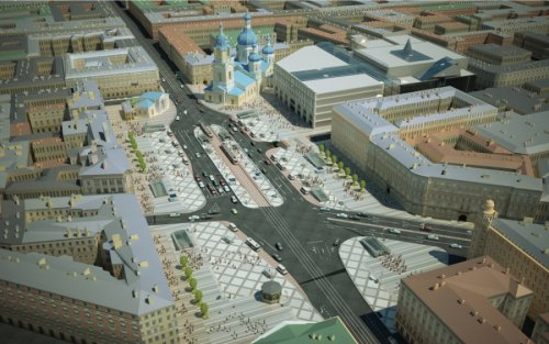Проект реконструкции Сенной площади. 2016 год