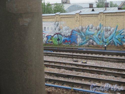Пл. Ленина, д. 6. Финляндский Вокзал. Граффити на шумозащитной стенке. Эпизод 6. фото июнь 2015 г.