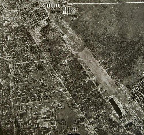 Район Сосновского парка. Снимок немецкой топографической съемки 1940-х годов.
