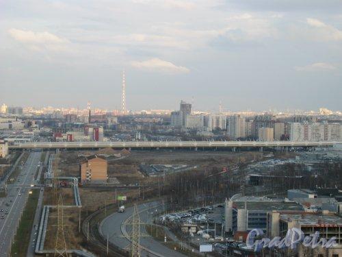 ЗСД. Вид с крыши дома 2 по Лыжному пер. Фото 14 апреля 2014 г.
