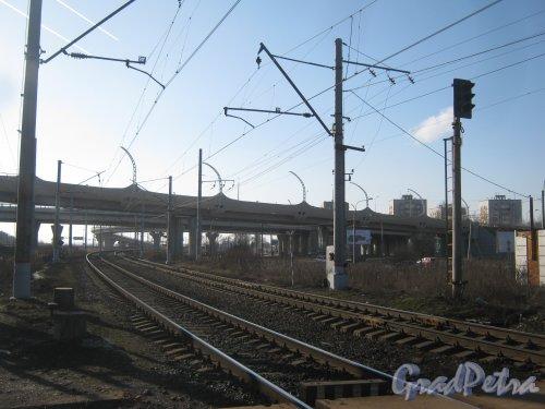 ЗСД. Вид со стороны ж/д платформы «Дачное». Фото 26 февраля 2014 г.