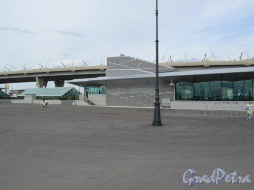 Вид участка ЗСД от станции метро «Зенит». фото июнь 2018 г.