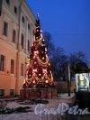 Невский пр., д. 39. Аничков дворец. Сквер перед Дворцом в новогоднем оформлении. Новогодняя елка. Фото январь 2012 г.