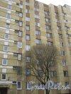 Ленинский пр., дом 100, корпус 2. Фрагмент здания со стороны двора. Фото 28 февраля 2014 г.