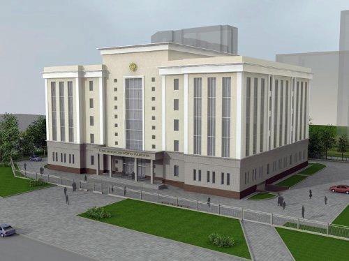 Дунайский пр., участок 1 (юго-западнее пересечения с Витебским проспектом). Проект нового здания Московского районного суда.