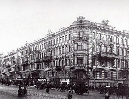 Невский пр., д. 79 / Пушкинская ул., д. 2. Общий вид. Фото начала 1900-х гг.