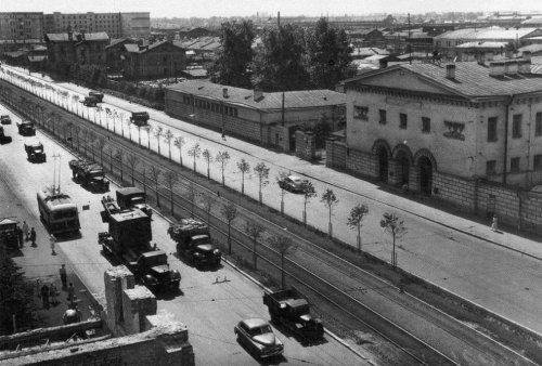 Московский проспект, дом 73. Участок до строительства жилого дома. Фото 1955–1956 годы.