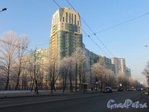проспект Космонавтов, дом 65, корпус 2. Общий вид жилого комплекса «Антей» от Звёздной улицы. Фото 20 ноября 2014 года.