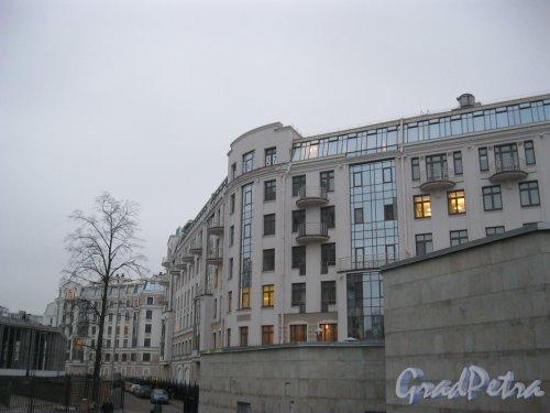 Морской пр., дом 33 / Кемская ул., дом 7. Фрагмент фасада. Фото 30 ноября 2014 г.