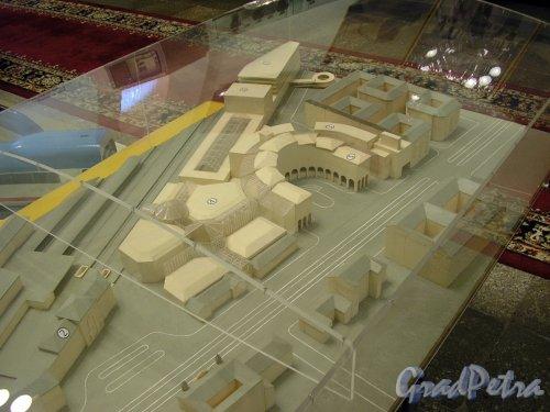 Проект вокзала высокоскоростной магистрали между Петербургом и Москвой. Экспонат «Музея железнодорожного транспорта». Фото январь 2006 года