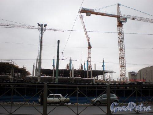 Строительство торгово-развлекательного комплекса «Galeria» у Московского вокзала. Ноябрь 2008 г.