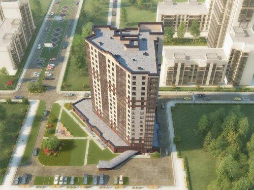 Пр. Маршала Блюхера, участок 18 (западнее пересечения с Лабораторной улицей). Проект жилого дома «Пифагор»