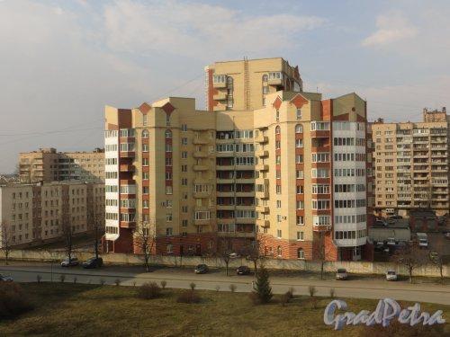 Ленинский проспект, дом 147, корпус 2, литера А. Фасад южной части здания со стороны больницы №26 Московского района.