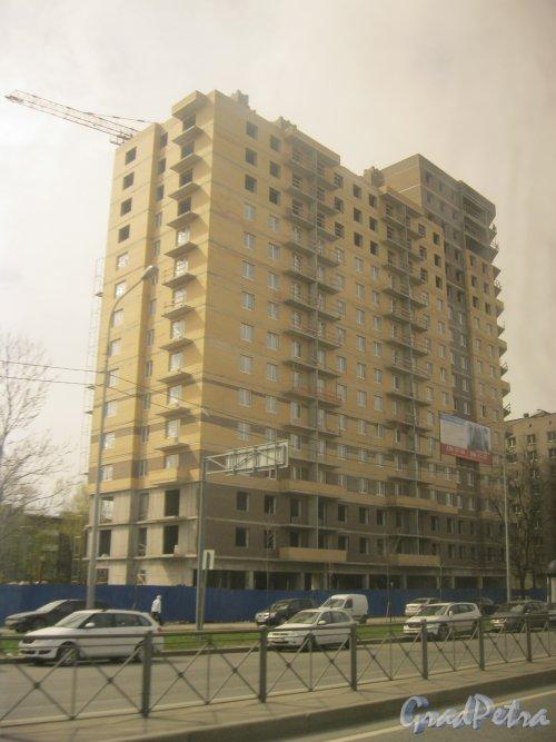 Дачный пр., дом 21, корпус 1. Строительство ЖК «Александрит». Фото 5 мая 2015 г.