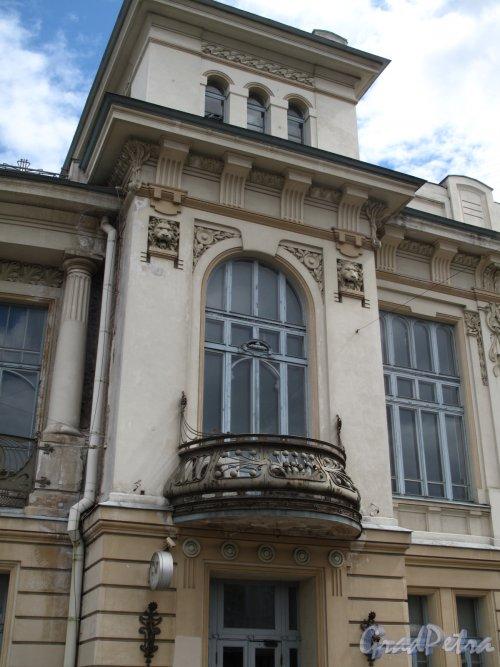 Загородный пр., д. 52. Витебский вокзал. Ризалит входа. Фото июнь 2014 г.