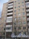 Пр. Маршала Жукова, дом 47. Фрагмент фасада здания. Фото 19 января 2016 г.