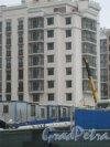 Строительство одного из зданий жилого комплекса «Московский квартал». Фото 21 октября 2016 г.
