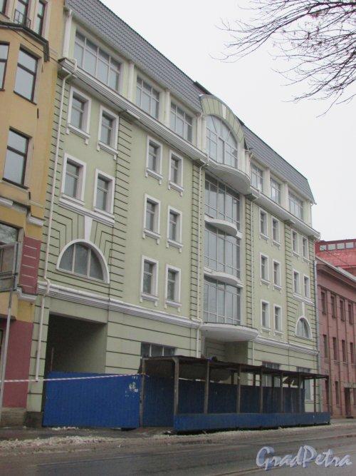 Большой Сампсониевский пр., дом 60. Фасад бизнес-центра «Эриксонъ». Фото 7 февраля 2016 года.