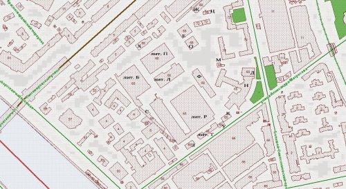 Большой Сампсониевский проспект, дом 68. Расположение зданий и строений на участке на 2016 год.