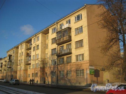 Лесной пр., дом 59, корпус 1. Фрагмент фасада. Вид с Лесного пр. Фото 29 февраля 2016 г.