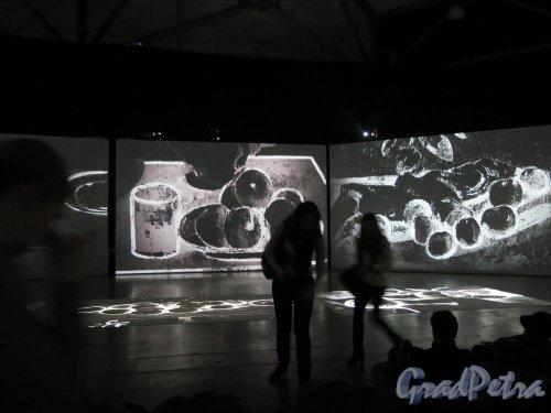 Большой пр., В.О., д. 103. Комплекс «ЛенЭкспо». Мультимедийная выставка «От Моне до Сезанна. Французские импрессионисты». Зал Сезанна- рисунки. фото январь 2015 г.