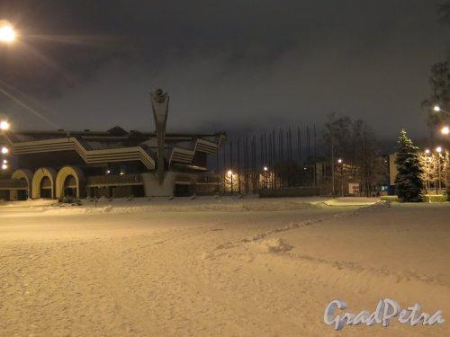 Большой пр., В.О., д. 103. Павильон № 6 ЛенЭКСПО при ночном освещении. фото январь 2015