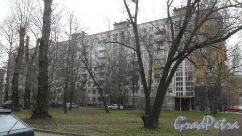 Заневский проспект, дом 51. 9-этажный жилой дом серии 1-ЛГ606 1965 года постройки. 5 парадных, 172 квартиры. Фото 2 ноября 2016 года.
