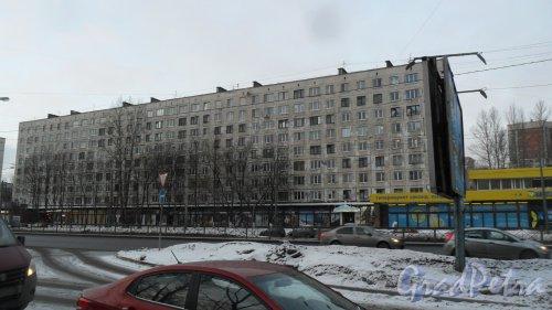 Заневский проспект, дом 30. 9-этажный жилой дом серии 1ЛГ-606-4м 1967 года постройки. 4 парадные, 223 квартиры. Фото 14 декабря 2016 года.