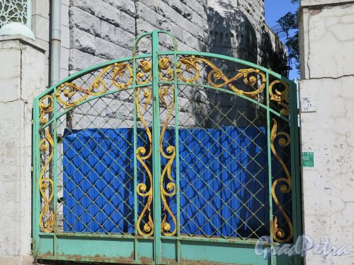Кронверкский пр., д. 7. Ворота на участок Мечети Кронверкского пр. фото июль 2015 г.