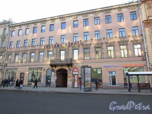 Невский проспект, дом 51, литера А. Лицевой фасад здания. Фото 31 января 2018 года.