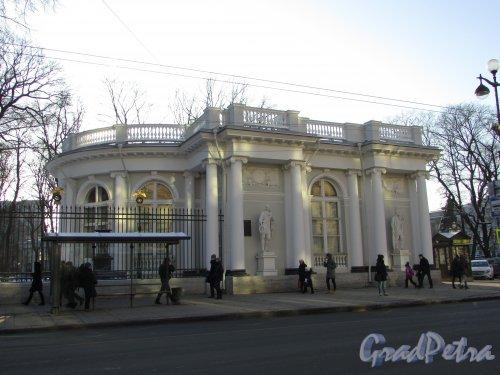 Невский проспект, дом 39, литера Г. Общий вид павильона Росси после реставрации. Фото 31 января 2018 года.