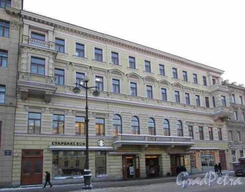 Невский проспект, дом 55. Фасад Коммерческого центра «Невский Плаза». Фото 8 февраля 2018 года.
