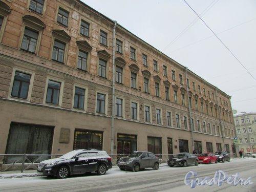 Кондратьевский пр., дом 14 / ул. Ватутина, дом 10. Фасад здания со стороны Кондратьевского проспекта. Фото 26 февраля 2018 года.
