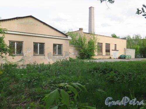 Елизарова пр., д. 32. Городская больница N 23. Хозяйственные корпуса. фото май 2016 г.