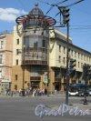 Суворовский пр., д. 2б. ФКБ «Петрокоммерц», 1999-2002. Угловой фасад. фото май 2018 г.