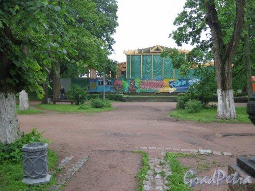 Ленина пр. (Выборг), д. 3а. Ресторан «Эспиля». В процессе восстановления. фото июнь 2016 г.