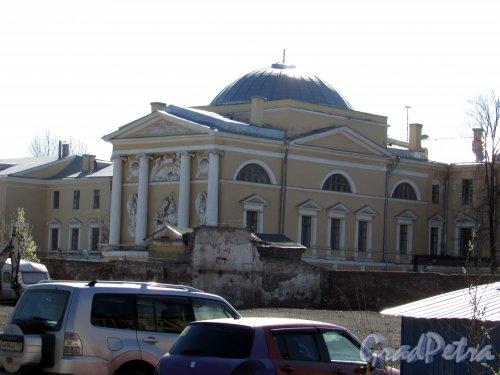 Лермонтовский проспект, дом 54, литера А. Вид со двора. Фото 18 апреля 2019 г.