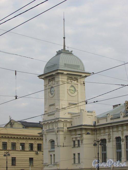 Загородный пр., дом 52. Башня Витебского вокзала. Фото 17 октября 2018 года.