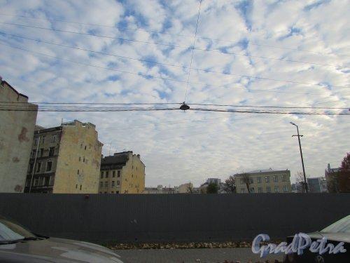 Малодетскосельский пр., дом 40. Участок после сноса здания. Фото 17 октября 2018 года.